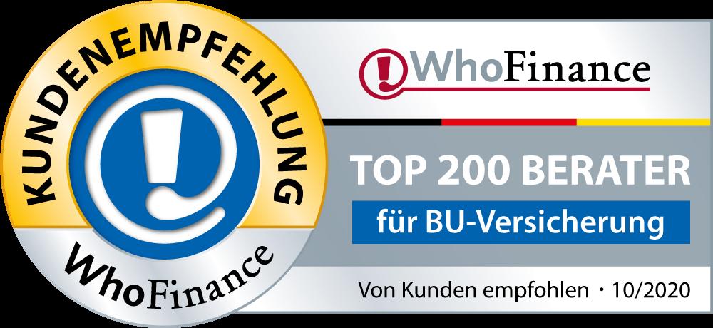Whofinance, Top Berater, Versicherungen